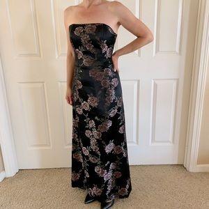 Vtg Jessica McClintock Formal Dress Evening Gown 0
